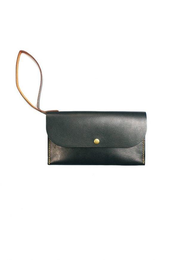 Leather.PH Slim Clutch - Black