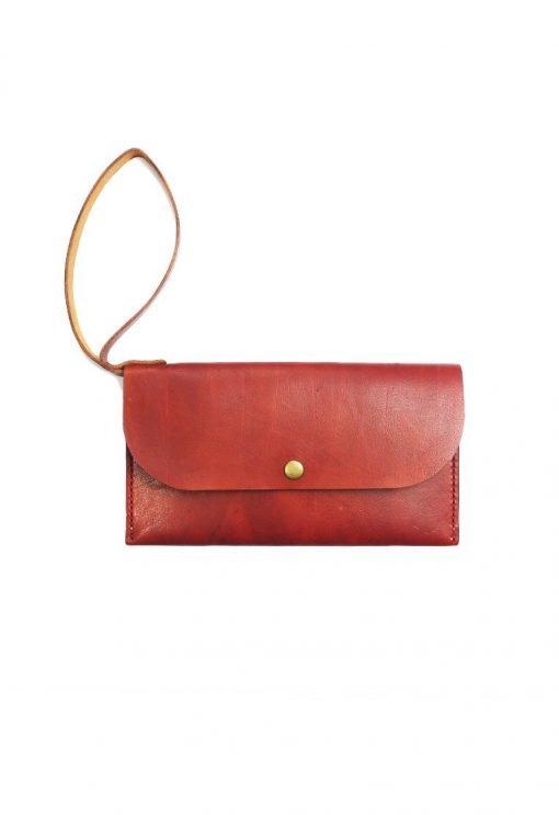 Leather.PH Slim Clutch - Red
