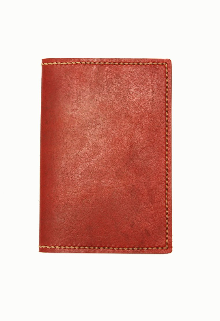 Leather.PH Traveler's Wallet - Red